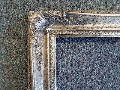 PICTURE FRAME- antique silver ornate - 8x10 102S