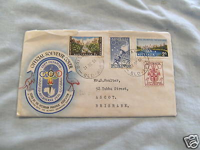 Used 1956 Envelope - 1956 Melbourne Olympic Games
