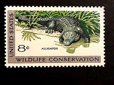 American Alligator Stamp Issued 39 Years Ago, Perfect
