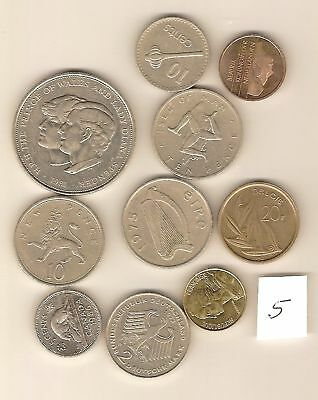 #5. 10 Different World Coins, 10 Different Countries