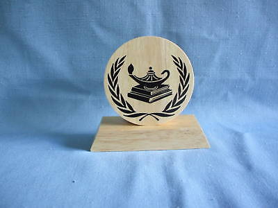 medium round KNOWLEDGE Award  trophies wood party favor