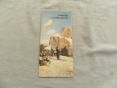 1950s GUIDE PAMPHLET TO DOLOMITES SKIING, ITALY
