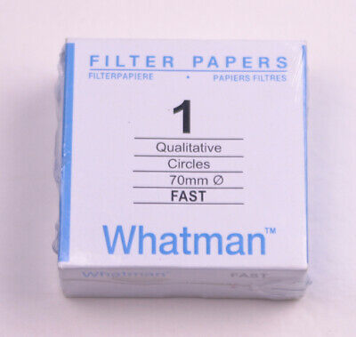 FILTER PAPER 7 cm 100 DISCS QUALITATIVE FAST 101