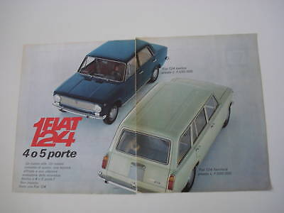 advertising Pubblicità 1967 FIAT 124 BERLINA/FAMILIARE