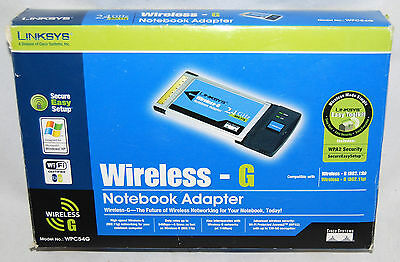 Linksys WPC54G Wireless-G Notebook Adapter Card 802.11g ~ FREE Shipping