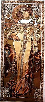 "Alphonse Mucha ""autumn"" 59"" X 25"" Fully Lined Belgian Tapestry Wall Hanging"