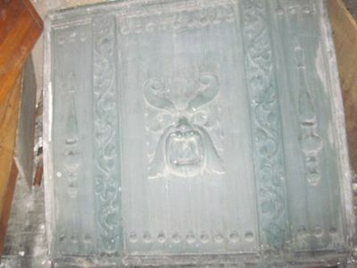 Vintage Architectural Lead Panel w/Face Chicago Bldg.