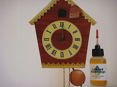 Liquid Bearings, SUPERIOR 100%-synthetic oil for modern or vintage clocks !!!