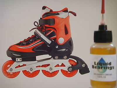 Liquid Bearings, SUPERIOR 100%-synthetic oil for FASTER Rollerblades, READ!!