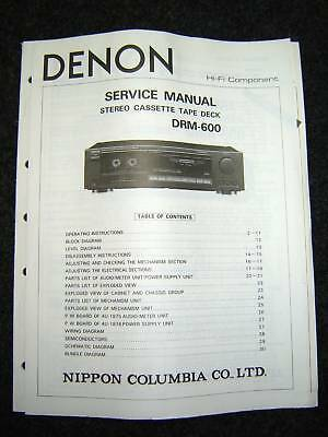 Original Denon DRM-600 Service Manual