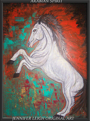 Original Abstract Horse Painting Contemporary Modern by J. Leigh