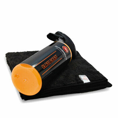 Autobright Gloss Boost Quick Detailer Spray Car Wax Polish Protect & Microfibre