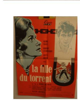 Affiche Cinema Originale La fille du torrent