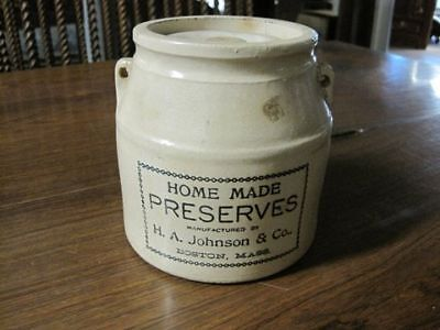 Vintage Home Made Preserves Jar - Lid Included!