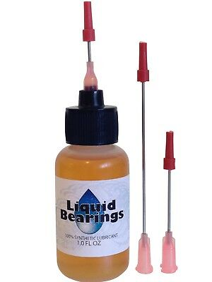 Liquid Bearings, w/XL needle, BEST 100%-synthetic oil for antique cuckoo clocks!