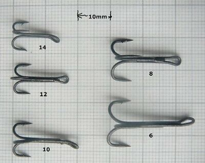 Talon  Salmon Treble Fly Tying Hooks 4 6 8 10 12 & 14