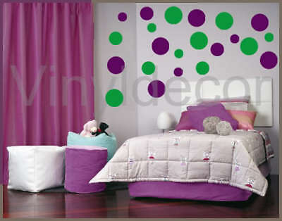 Vinyl wall art  216 Polka dot stickers decal circles vg