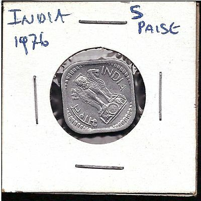 World Coins - India 5 Paise 1976