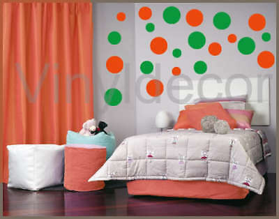 216 POLKA DOTS CIRCLE DECOR VINYL WALL STICKER DECAL og