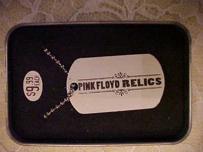 """Pink Floyd Relics""""24 inch chain/Tag""""/ Collectible Tin"""