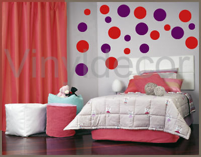 KIDS VINYL WALL STICKER 216 POLKA DOTS CIRCLES DECAL rv