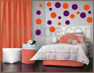 216 polka dots circles stickers vinyl wall room art ov