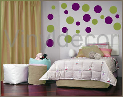216 POLKA DOTS VINYL WALL ART STICKERS DECAL CIRCLE olv