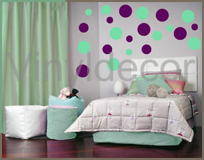 Vinyl wall room art 216 Polka dots circles sticker minv