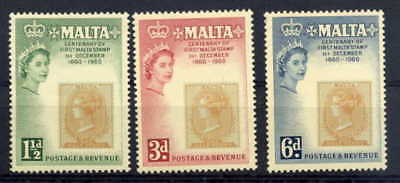 Malta 1960 Centenary Of Stamps From Malta Set Complete!