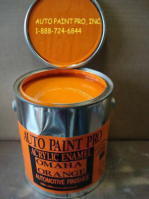 Auto Body Shop Paint Acrylic Enamel Single Stage Omaha Orange Restoration Paint