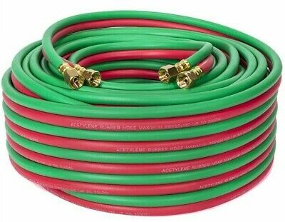 100 Ft 1/4 Id Oxygen And Acetylene Twin Welding Hose Victor & Harris Compatible