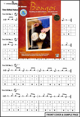 All About Bongos Sheet Music Book Tutor +CD NEW Learn