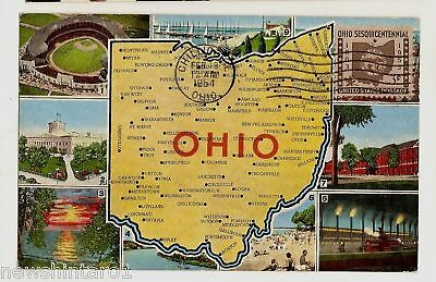 1954 Usa First Day Issue Postcard - Ohio State
