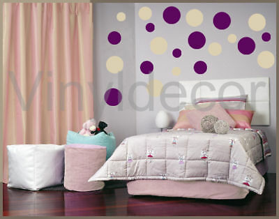 Vinyl wall art stickers circle 216 POLKA DOTS decal bev