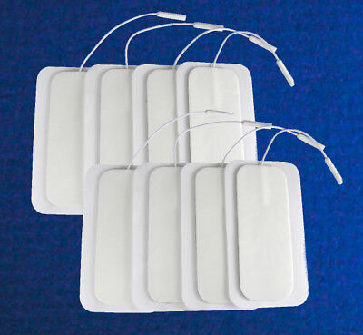 Large TENS electrode pads maternity childbirth / back pain 2x 4-packs (8 pads)