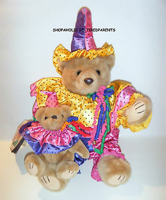 Bearly People Bears -Calypso Clowns - Vintage 1993 -Collectable -Rare -Mint Cond