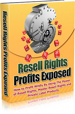 Resell Rights Products Exposed; Profit Big By Using The Power Of PLR Resale (CD)