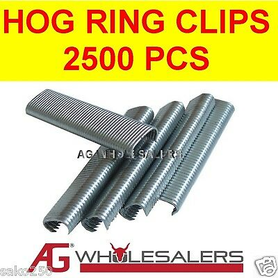 2500 C7 Galfan Hog Ring C Clips Jambro Stlye Pliers Fencing Fence