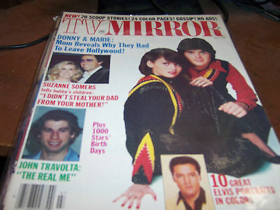 TV Mirror Magazine July 1978 Donny and Marie, Travolta