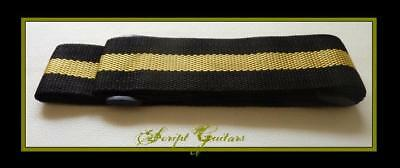 Replacement  AUSSIE GOLD  Electric, Acoustic, Bass Guitar strap