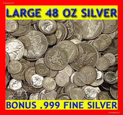 "Absolutely The Best Old Unsearched Silver Coin Lot Deal On Ebay! ""48 Ounces!"""