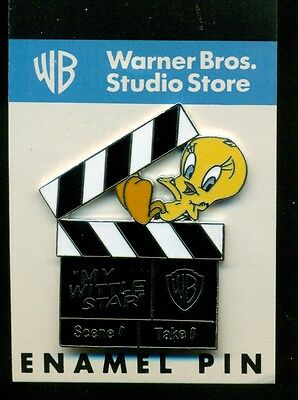 Tweety movie clap board enamel pin Warner Brothers Looney Tunes new on card