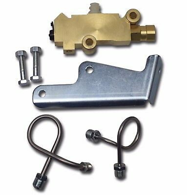 GM proportioning valve kit disc front drum rear mounting bracket ss lines pv2