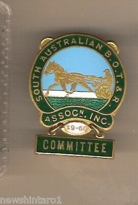 South Australian Trotting Assoc.   Badge - 1959-60