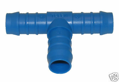 """19Mm 3/4"""" T Piece Barbed Connector Hose Joiner Silicone"""