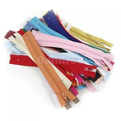 """Pack of 50pcs Nylon Zippers Mixed Color sewing craft 7"""""""