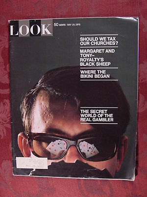 LOOK May 19 1970 1st BIKINI COMIC FASHION GAMBLING +++