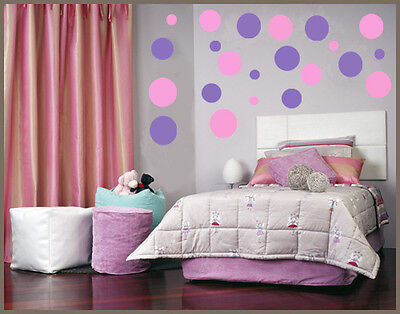 216 Polka dot Vinyl wall art sticker decal baby decor