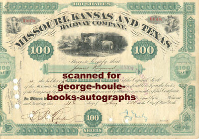 Jay Gould~Stock Certificate~Railroad~1880 -  Texas Rr