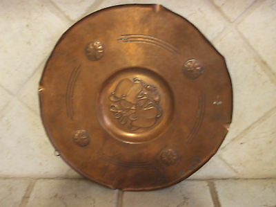 Signed Wmf Wall Hanger Hammered Copper Arts And Crafts